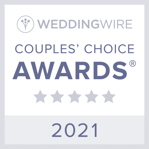 Winner of 2020 Couple's Choice Award from WeddingWire